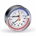 Термоманометр аксиальный, 80, 0-120С