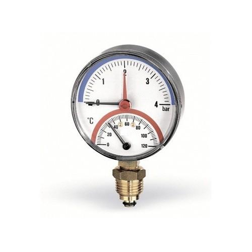 Термоманометр радиальный, 80, 0-120С