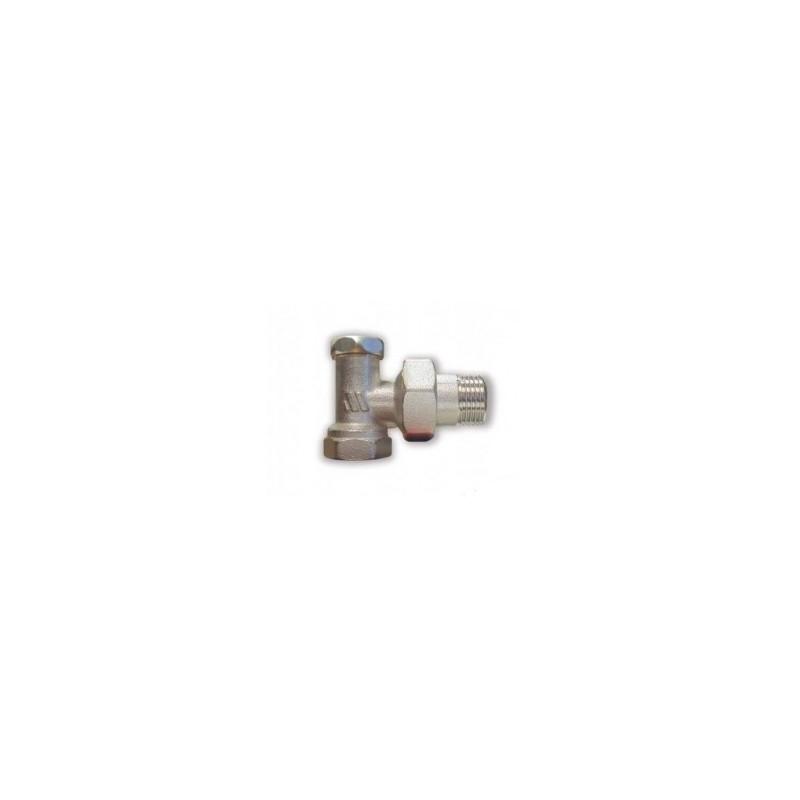 """Нікельований радіаторний клапан відсічний кутовий 193R 1/2""""ВР х 1/2""""ЗР"""