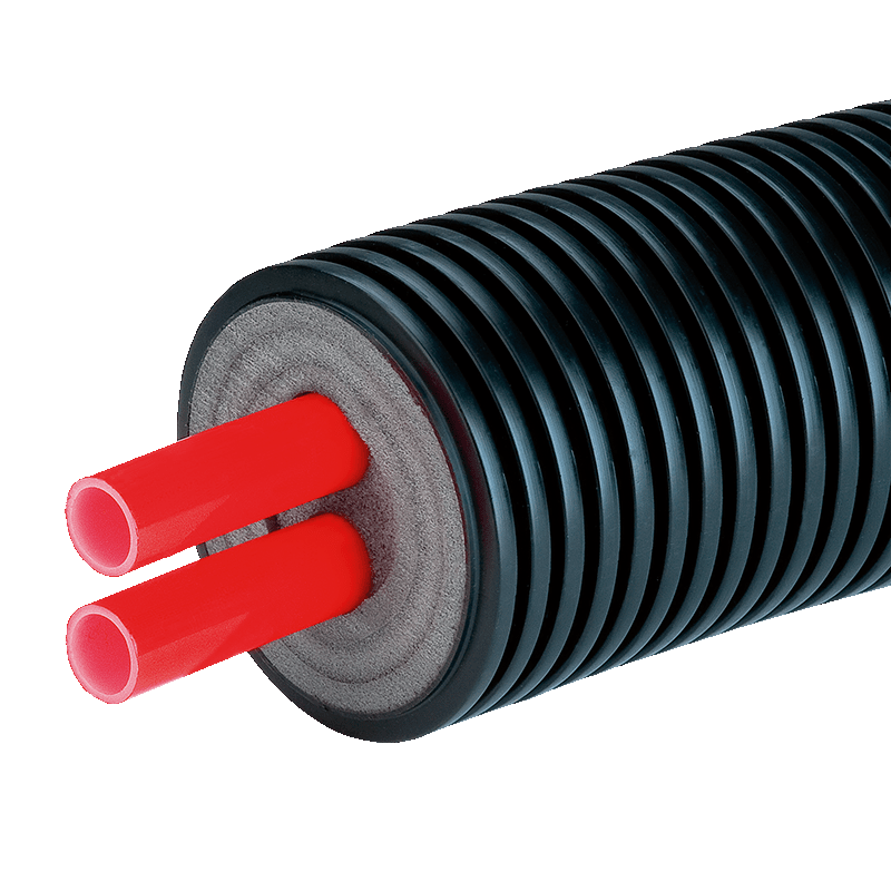 Предизолированная труба AustroISOL double в кожухе 125 мм