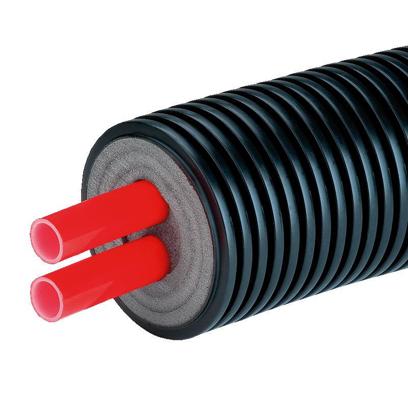 Предизолированная труба AustroISOL double в кожухе 145 мм