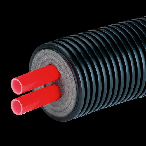 Предизолированная труба AustroISOL double в кожухе 200 мм