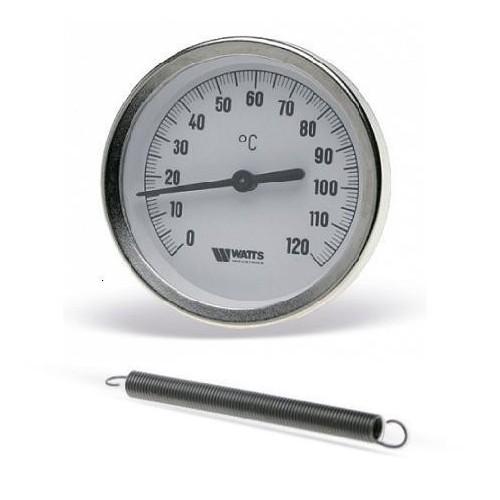 Термометр НАКЛАДНОЙ биметаллический 0-120С