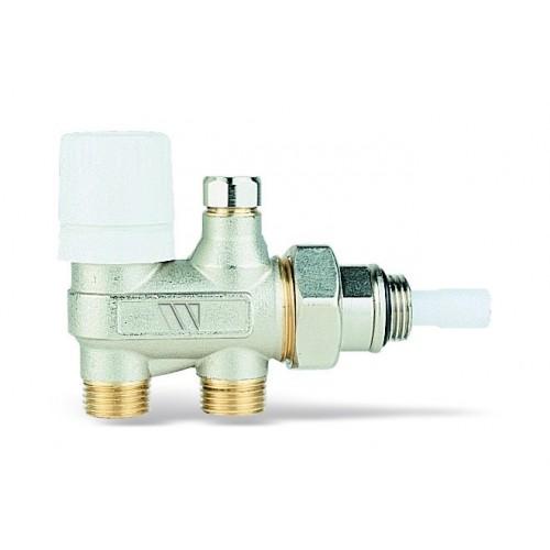 """Четырехходовой, никелированный термостатический клапан 120B 1/2""""ЗР x1/2""""ЗР"""
