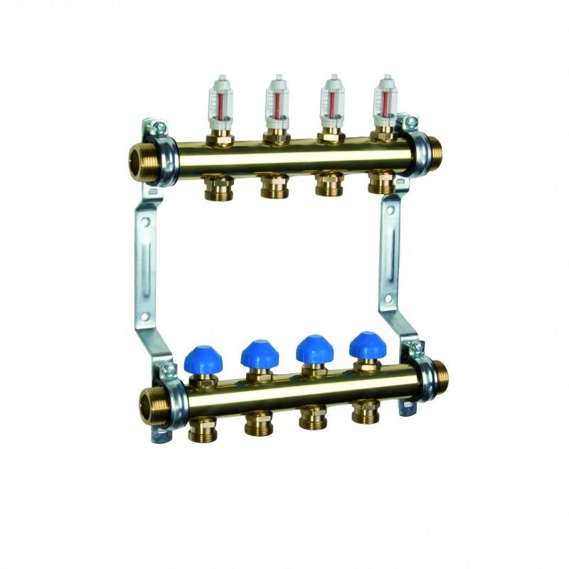 Коллектор HKV 2010-VA из нержавеющей стали для теплого пола