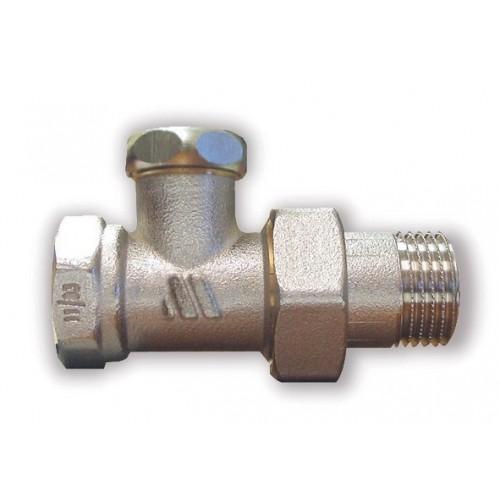 Никелированный радиаторный клапан отсечной, прямой 194R (RLD/K)