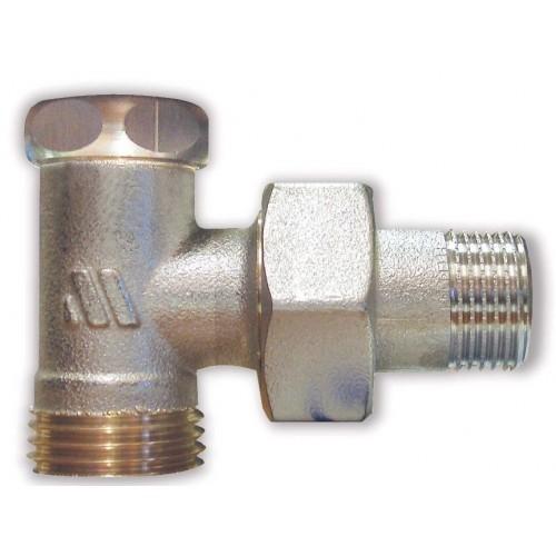 Никелированный радиаторный клапан отсечной, угловой 1193R